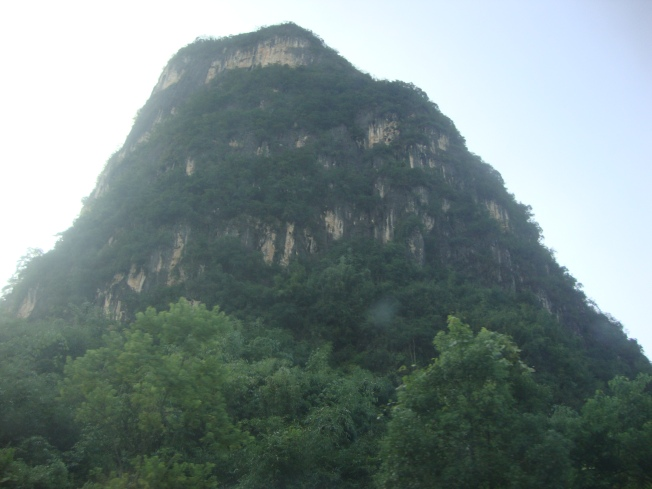 Karst peak up close
