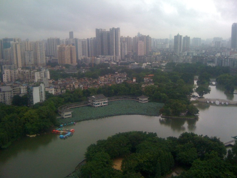 View from the hostel at Zhongshan Ba Lu
